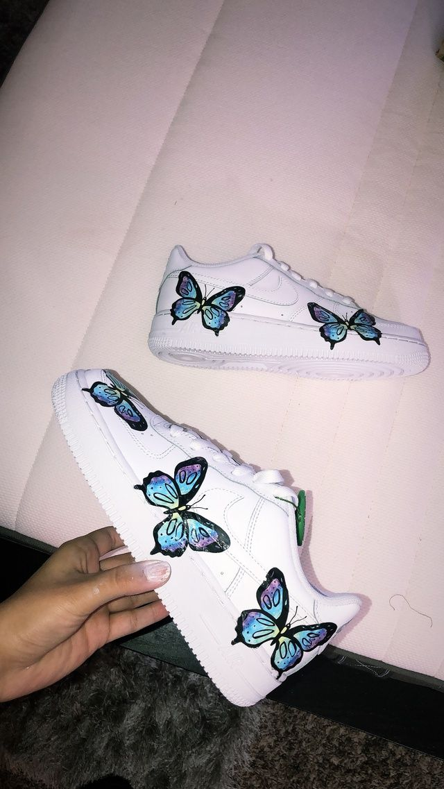 Butterfly AF1 in 2020 Nike shoes blue, Nike air shoes