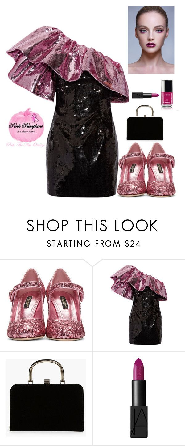 """Dinner night Fashion"" by kotnourka ❤ liked on Polyvore featuring Dolce&Gabbana, Yves Saint Laurent, Boohoo, Chanel and NARS Cosmetics"