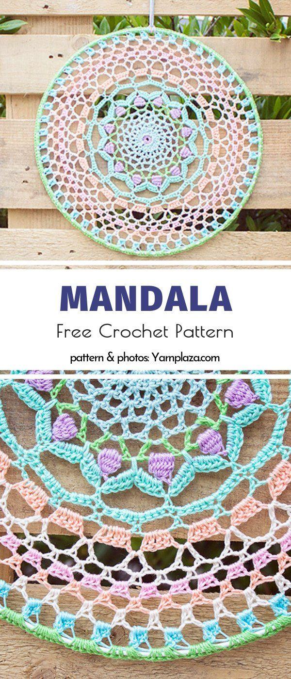 Stunning Crochet Mandalas Free Patterns #crochetmandalapattern