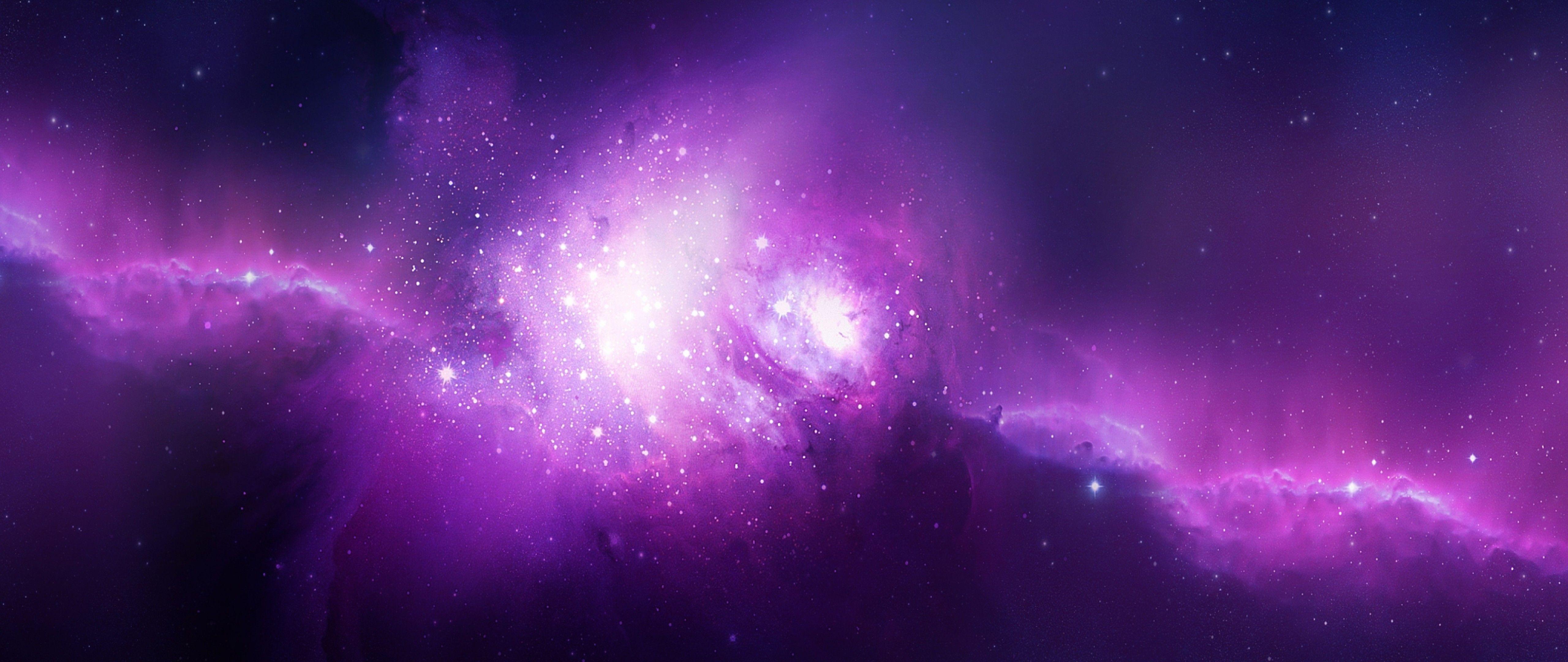 purple galaxy aesthetic - HD2558×1024