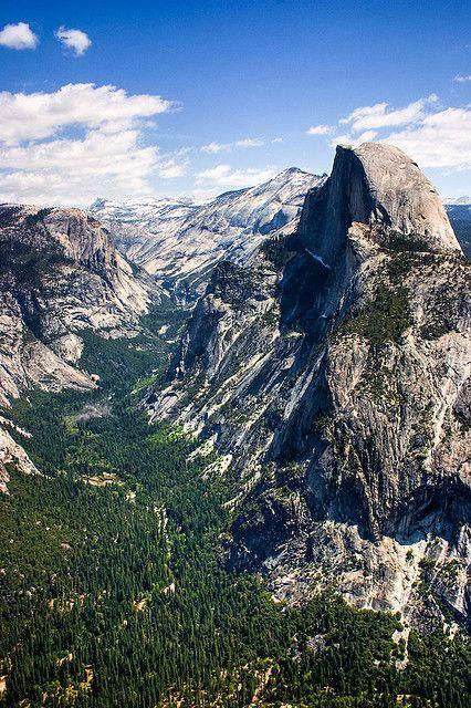 Half Dome Hdr Sierra Nevada Mountains Yosemite Scenic