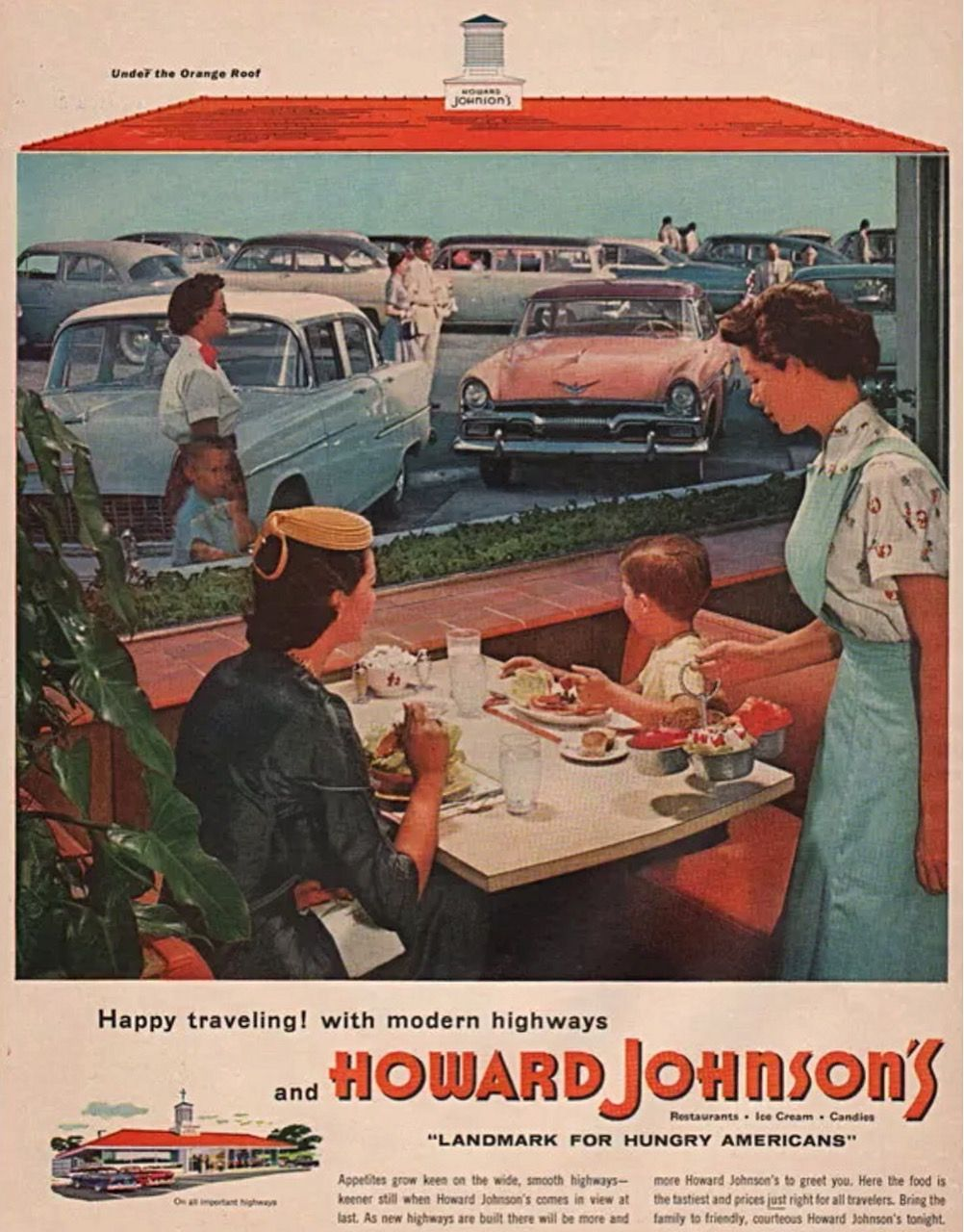 Howard Johnsons Restaurants Advertisement 1955