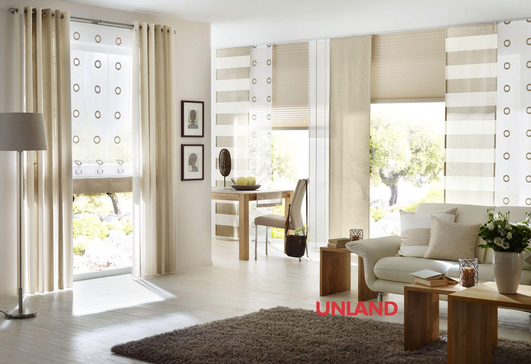 Unland Purenature, Fensterideen, Vorhang, Gardinen Und ... Gardinen Wohnzimmer Beige