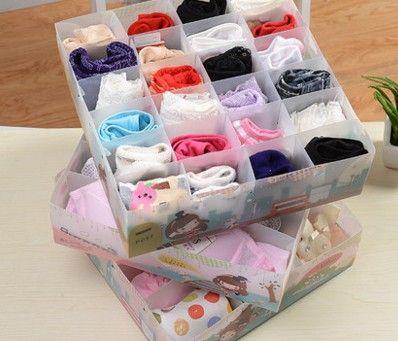 Attractive Free Shipping,6 Grid 12 Grid 24 Grid Bra Underwear Storage Box
