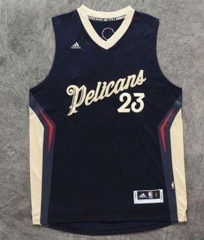 Men 23 Anthony Davis Jersey Dark Blue New Orleans Pelicans Christmas ... b614bac70