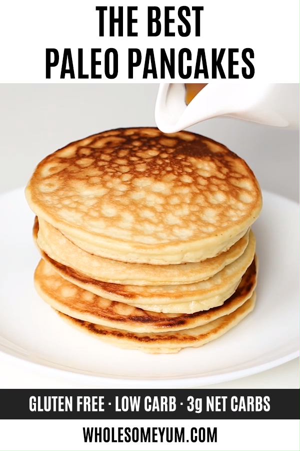 Keto Low Carb Pancakes with Almond Flour & Coconut Flour (Paleo, Gluten-Free)