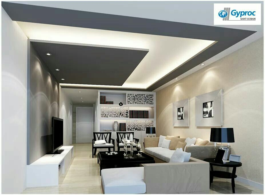False Ceiling Extended Design For Living Room ARK