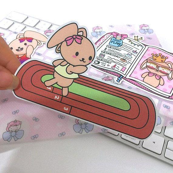Cb024 die cut planner stickers running stickers workout tracker stickers erin