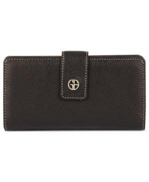 Giani Bernini Wallet, Softy Leather Solid Tab Framed Clutch Women's - Handbags