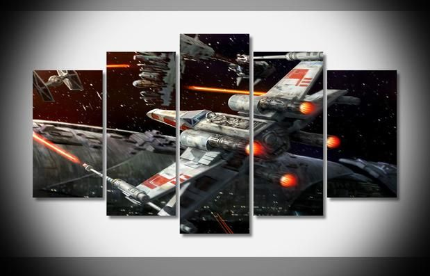 XWING STAR WARS POSTER ABSTRACT WALL ART WALL LARGE GIANT