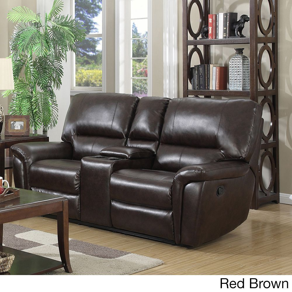 Coja Providence Leather Air Loveseat Recliner House Reno