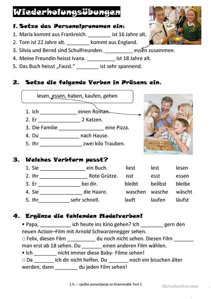 wiederholung deutschpr fung deutsch lernen deutsch bungen e deutsch unterricht. Black Bedroom Furniture Sets. Home Design Ideas