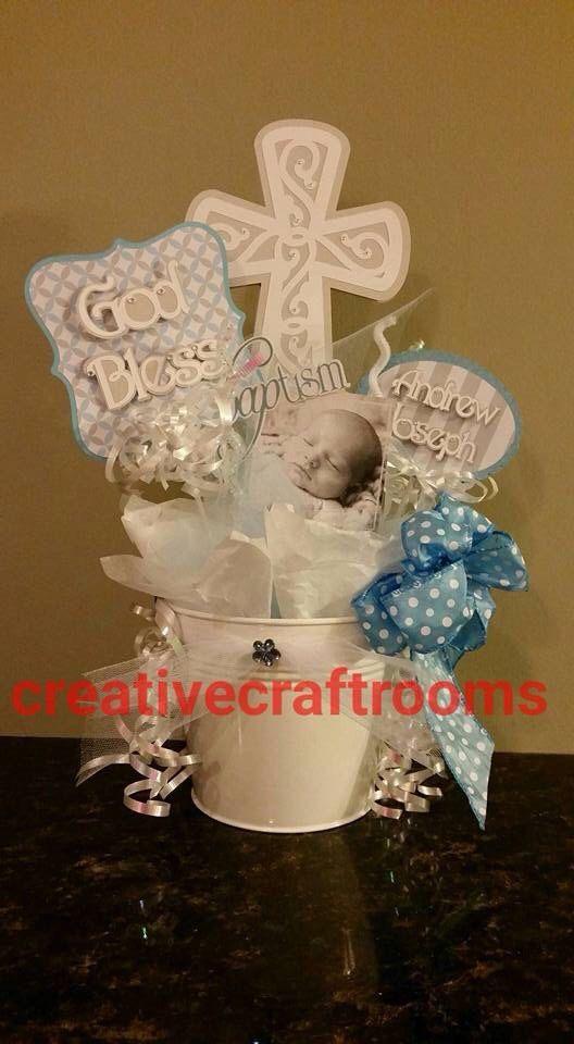 baptism centerpiece christening centerpieces by creativecraftrooms rh pinterest es baby girl christening centerpieces baby christening table centerpieces