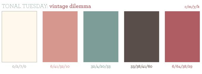 dusty rose color pallete   Vintage color schemes, Vintage colour palette, Blue color schemes