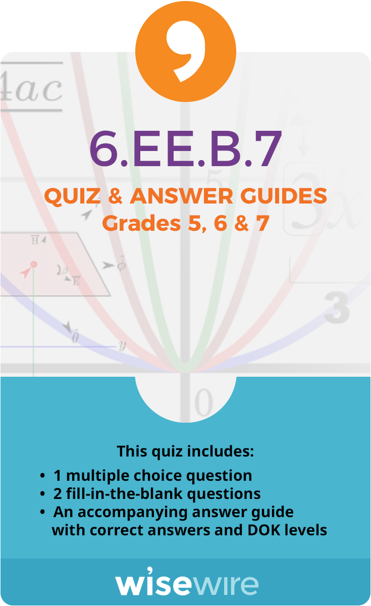 6.EE.B.7 - Quiz and Answer Guide   Pinterest   Solving equations ...