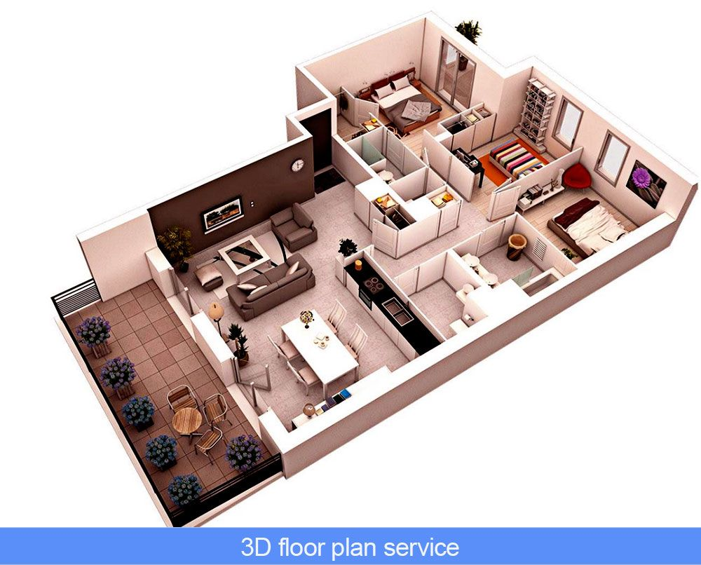 3d Floor Plan Design Services Learn How To Start A 3d Floor Plan Service 3d House Plans Floor Plan Design Bedroom House Plans