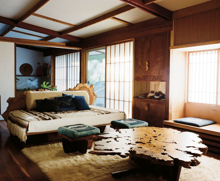 At home with George Nakashima photographed by