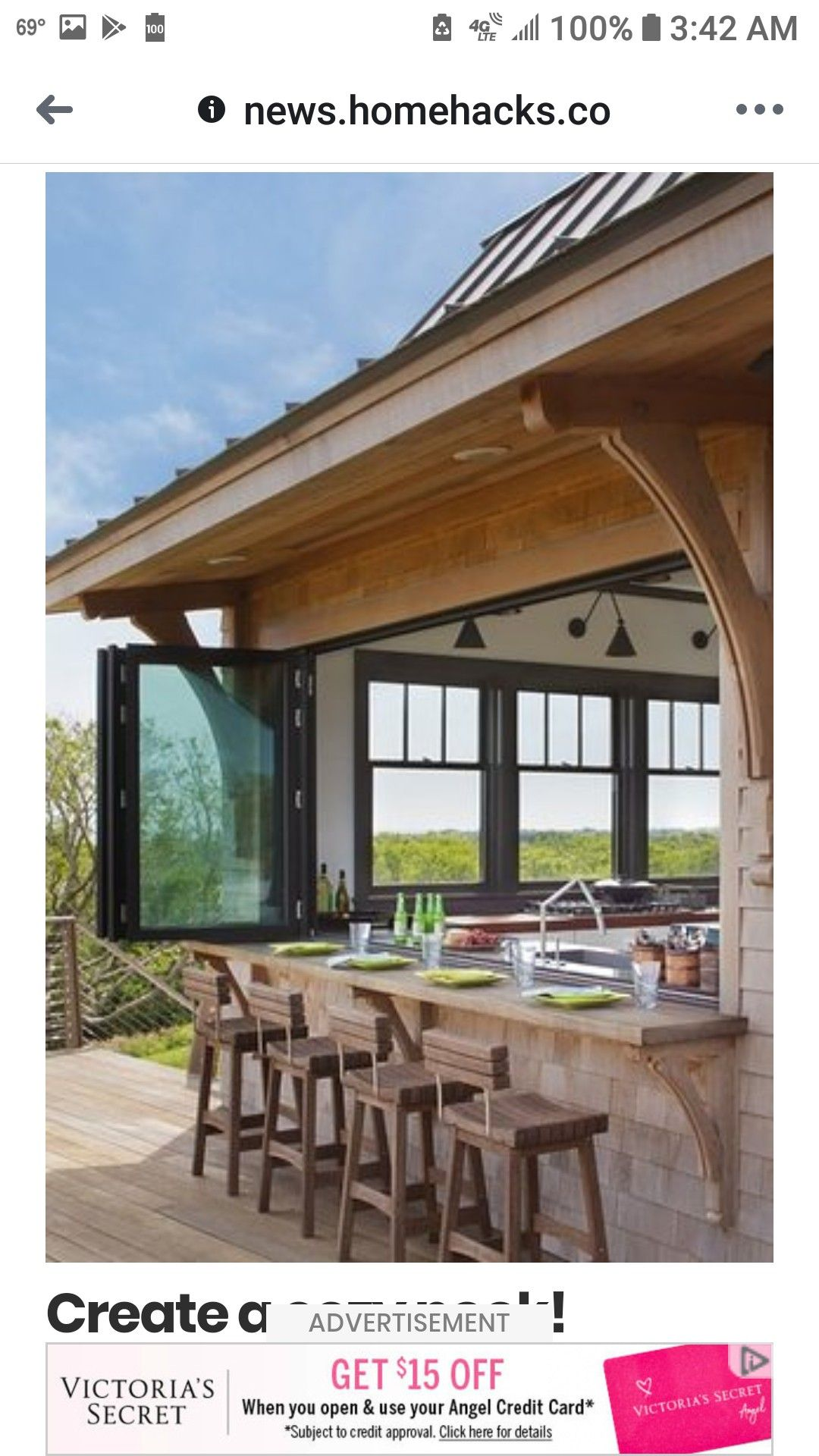 Image by Cindy Abernathy on lake house Outdoor kitchen