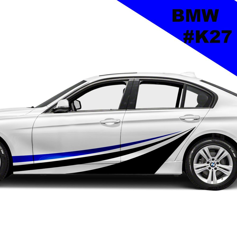 Sport car sticker design - Sports Side Car Stripes Decal Car Graphics Car Stickers For Bmw Racing Stripes
