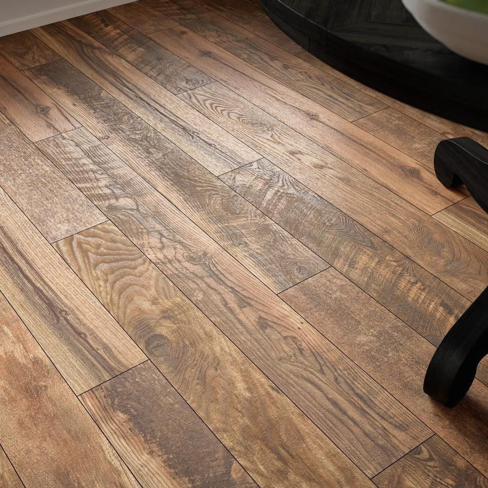 Home Decorators Collection Aged Wood Fusion 12 Mm Thick X 6 3 16 In Wide X 50 3 4 In Length Laminate Flooring In 2020 Vinyl Wood Flooring Aging Wood House Flooring