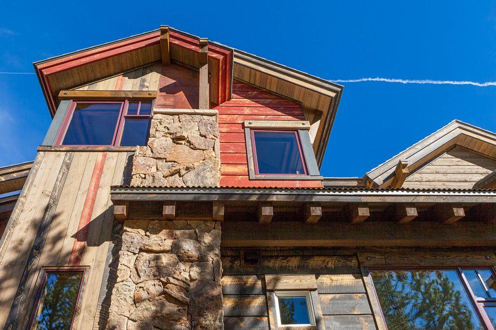 Modern Rustic Siding Mixed Reclaimed Wood With Cedar Siding Architect House Alaska House Rustic Exterior