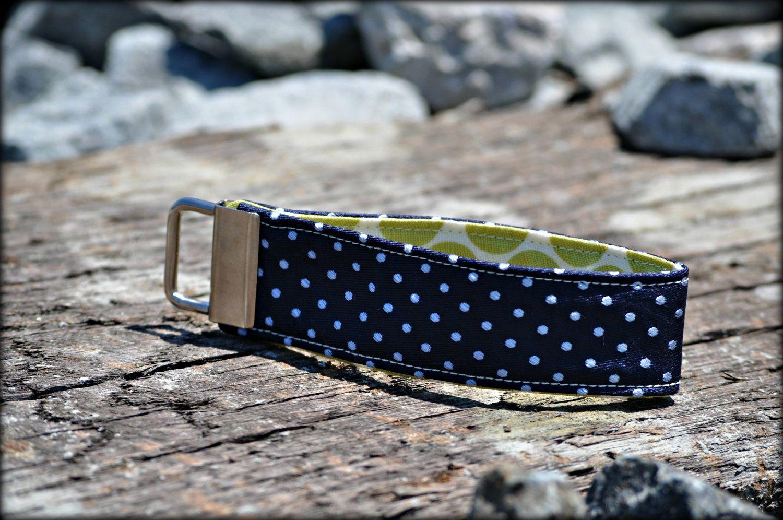 Adoption Fudraiser Hadley- Upcycled Blue Necktie with Light Blue Polka Dots Key Fob. $9.00, via Etsy.