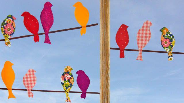 Zugv gel eine herbstliche fensterdeko basteln for Herbstdeko fensterbilder