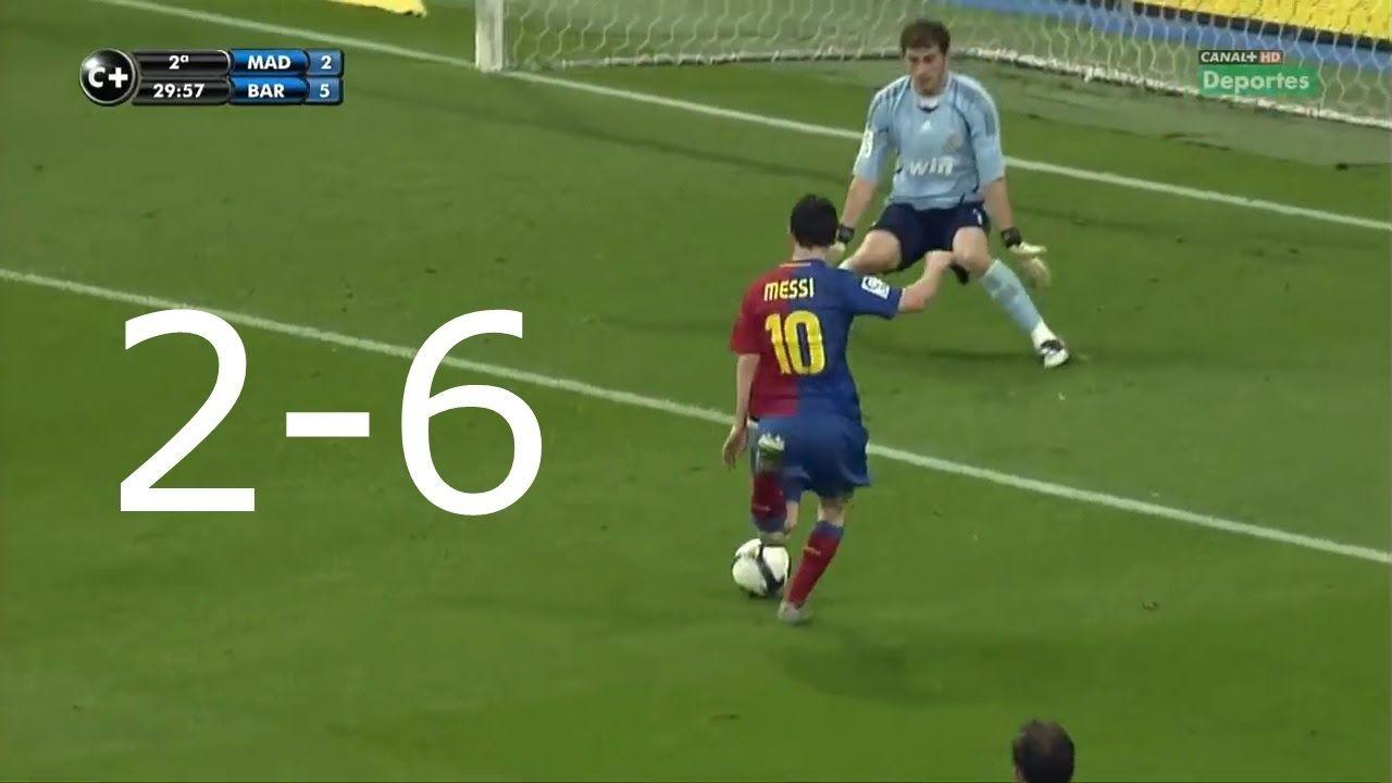 Real Madrid Vs Barcelona 2 6 Hd Full Match Highlights 02 05 2009 Match Highlights Full Match Real Madrid