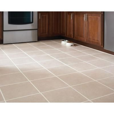 Trafficmaster Sanibel White 12 In X 12 In Ceramic White Floor And Wall Tile 14 Sq Ft Case Ph3003 The Home Depot Ceramic Floor Tiles Beige Ceramic White Tile Floor
