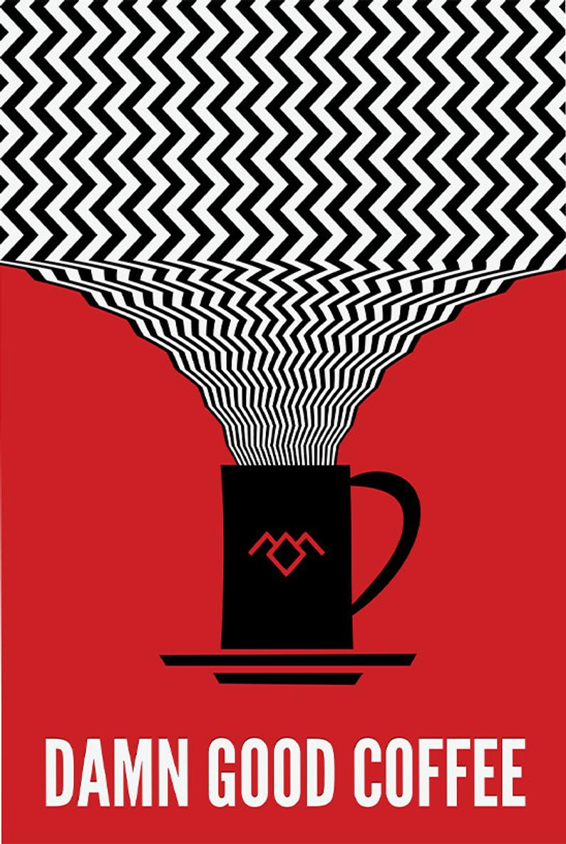 Photo of Twin Peaks Poster, Damn Good Coffee Poster or Framed Print