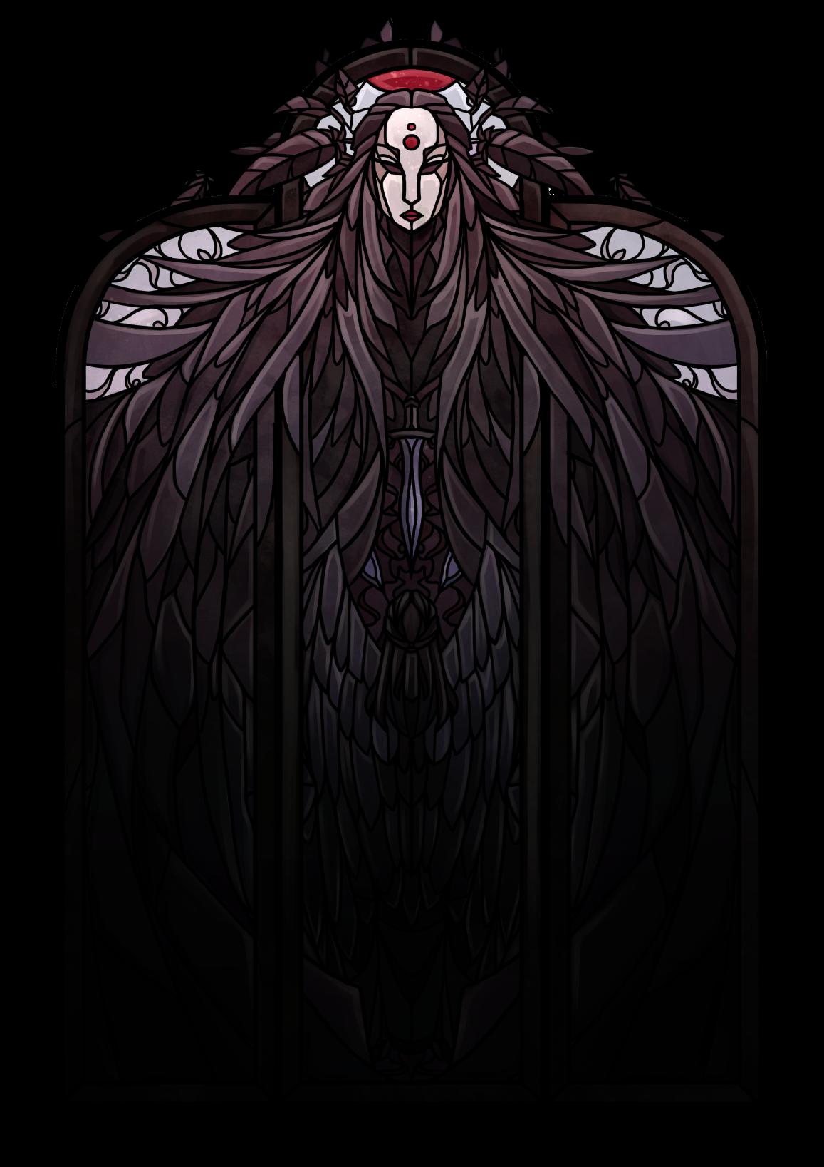 Raven Queen Stained Glass Raven Queen Critical Role Fan Art Raven Queen Dnd