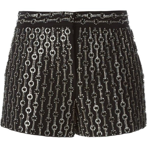 Emilio Pucci Embellished Shorts (10 550 UAH) ❤ liked on Polyvore featuring shorts, emilio pucci, black, emilio pucci shorts and embellished shorts