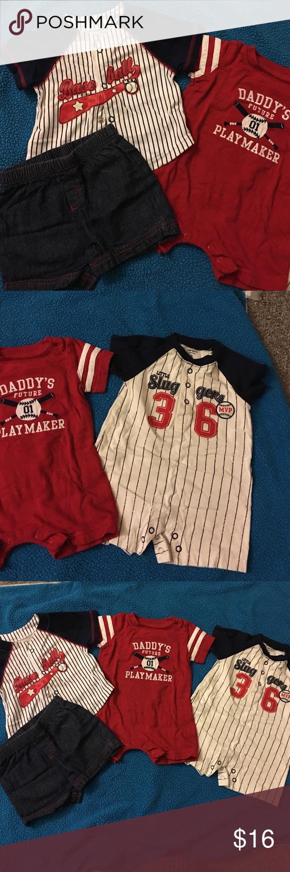 0e220ea9ae9f Baby boy baseball bundle. 3M Cute baby boy baseball outfits. Carters and okie  dokie brands. 3M. Carter's Matching Sets