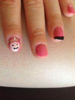 Princess Bubblegum nails!