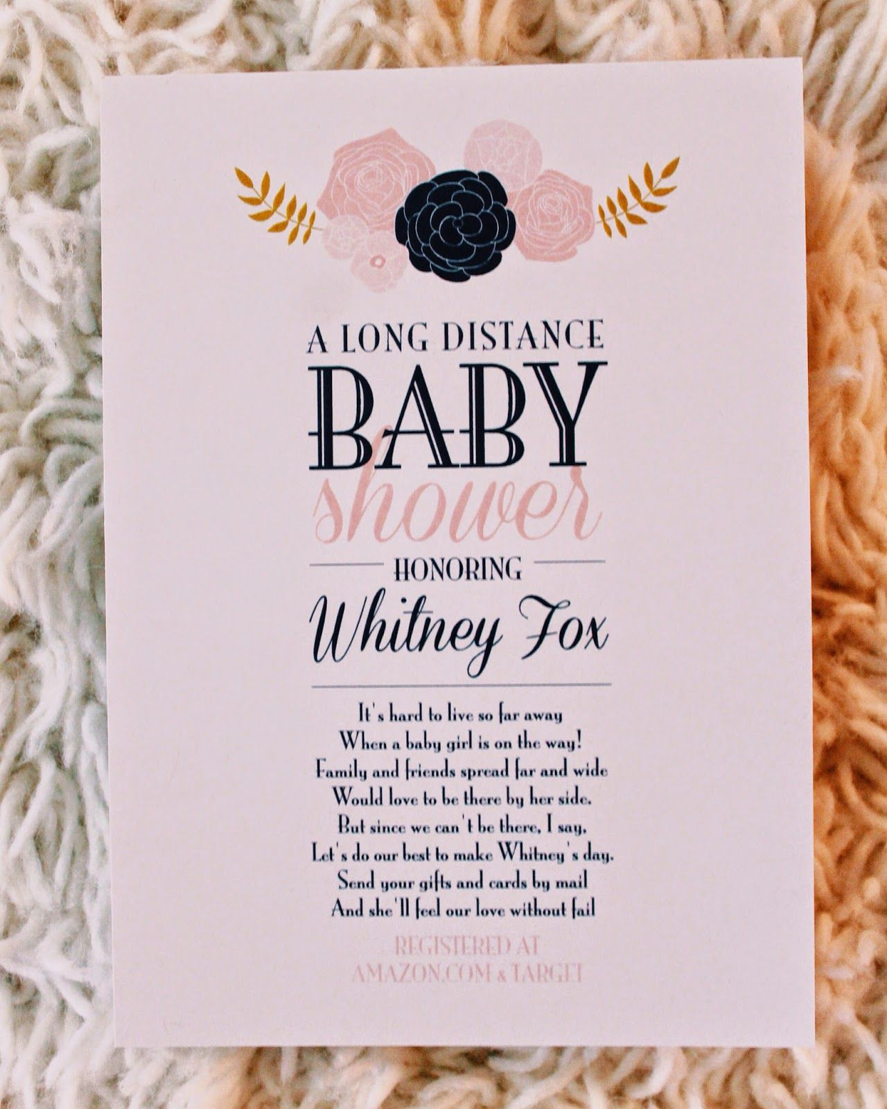 Custom long distance baby shower invitations. | Prints For Events ...
