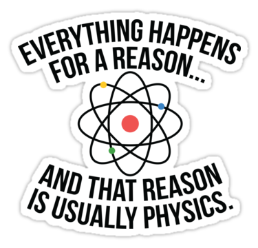 Always Physics Sticker by OffensiveFun