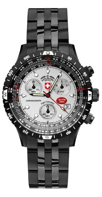AIRFORCE 1, PVD 2470, silver dial by CX Swiss Military ...