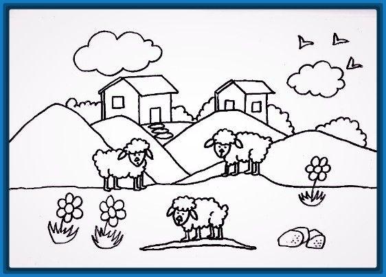 Dibujos Faciles De Colorear: Dibujos De Casas Faciles Para Colorear