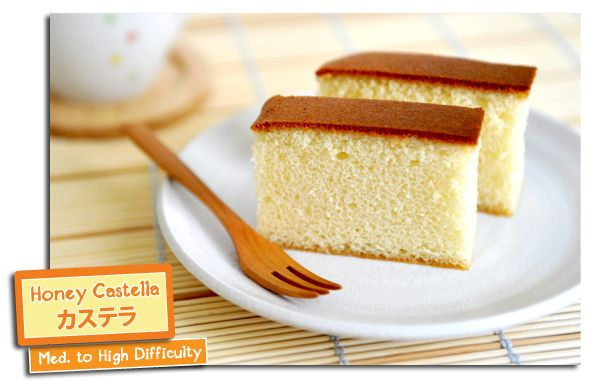Japan Honey Cake Recipe: Honey Castella- Japanese Honey Cake. I Have Had This A