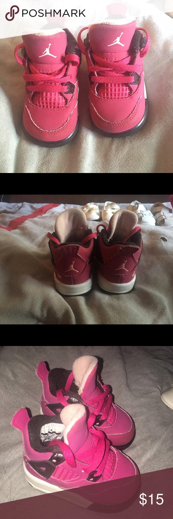💕baby Girl Jordans! In good used