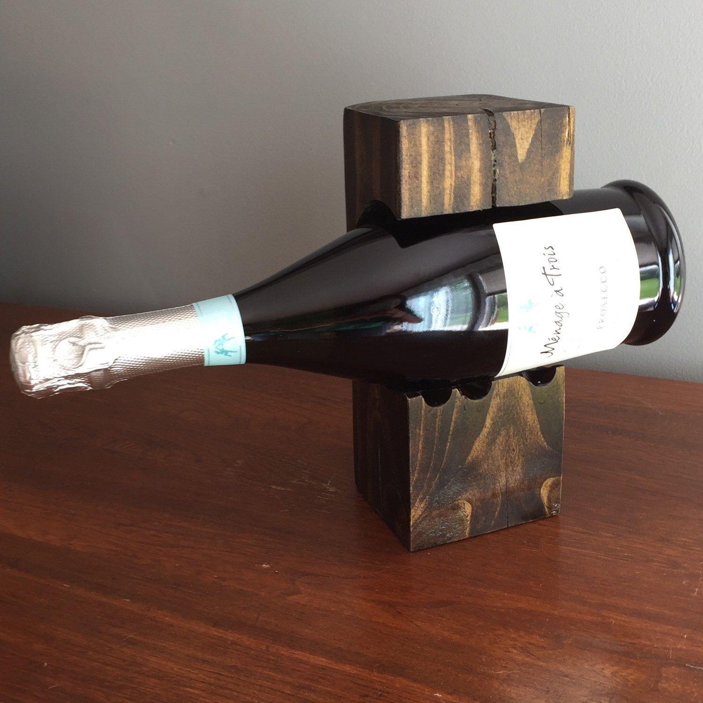 Homemade & unique bottle holder #prosecco #WineAndWoodCo