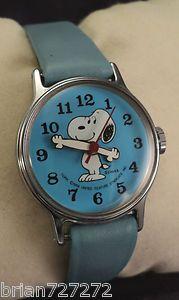 1958 TIMEX PEANUTS BLUE SNOOPY  WATCH - I want. A lot.