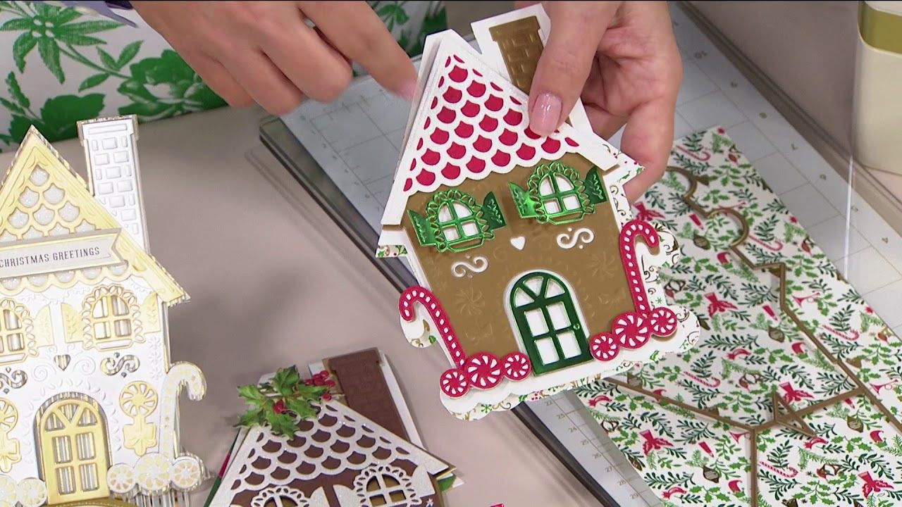 Gingerbread House Shaped Card Popper And Mimi Paper Crafts Christmas Cards Handmade Create Christmas Cards Christmas Cards