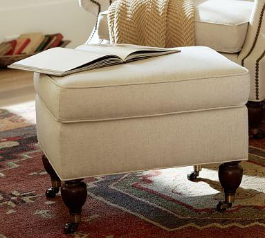 Brooklyn Upholstered Ottoman Upholstered Ottoman