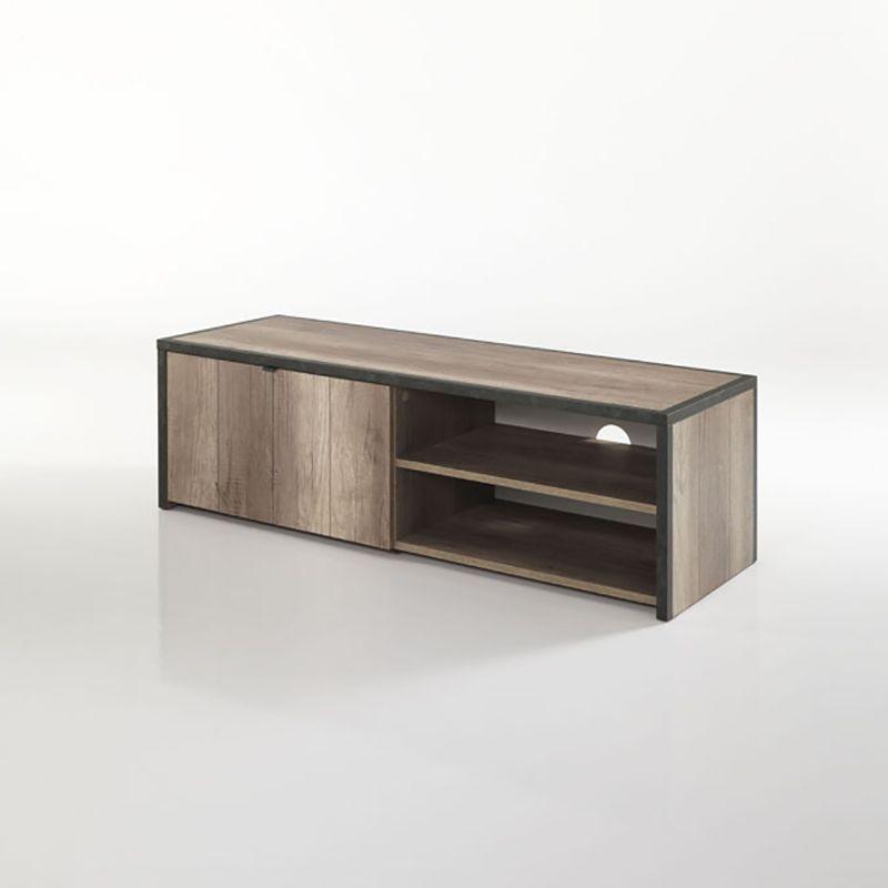 Meuble TV couleur chêne grisé moderne LAPONIE | Meuble tv | Pinterest