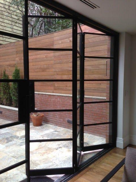 Manhattan Brown Stone - Steel Bi-Fold and Steel French Doors ...