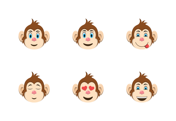 Monkey Face Emoji Emoji Monkey Face Character