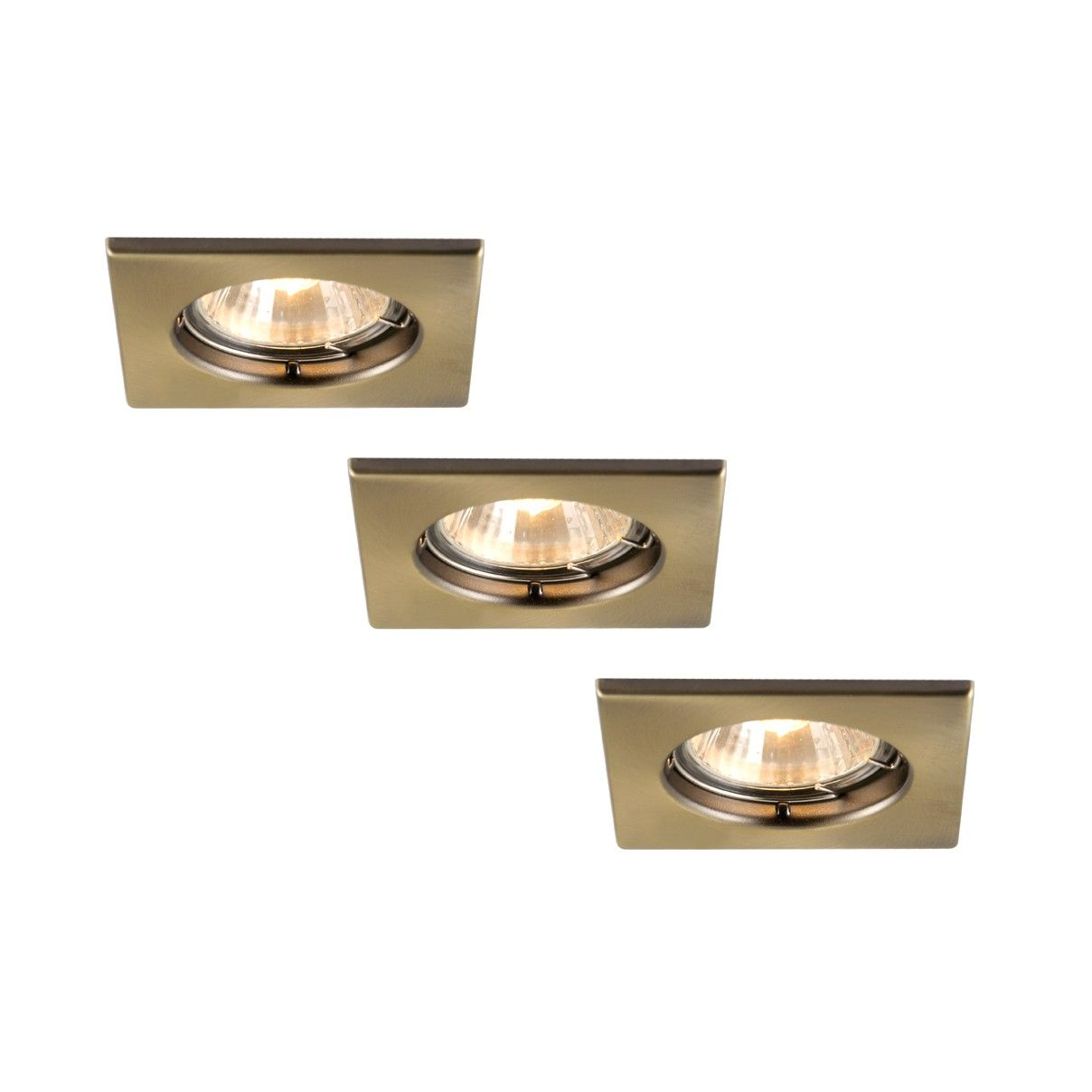 Brass Square Fixed Recessed Downlights Recessed Lighting Downlights Retrofit Recessed Lighting