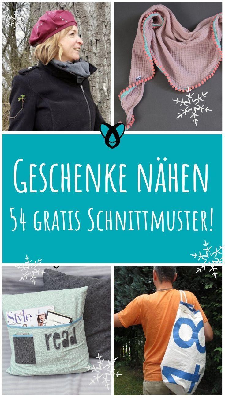 Photo of Weihnachtsgeschenke nähen! 54 gratis Schnittmuster