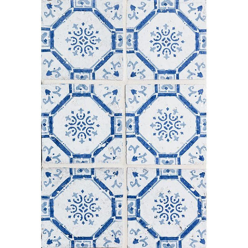 Sintra 3 Square 1 2 Glazed Ceramic Tiles 6x6 In 2020 Antique Tiles Terracotta Tiles Pearl Tile